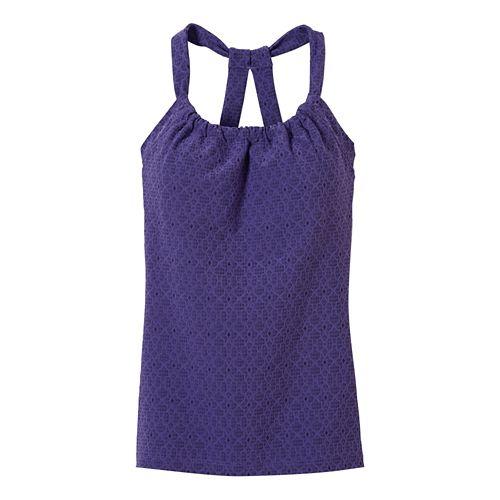 Womens prAna Quinn Jacquard Sleeveless & Tank Tops Technical Tops - Violet Jacquard XL