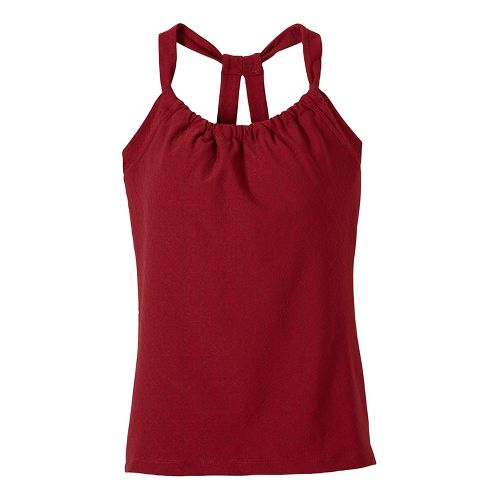 Womens prAna Quinn Jacquard Sleeveless & Tank Tops Technical Tops - Red S