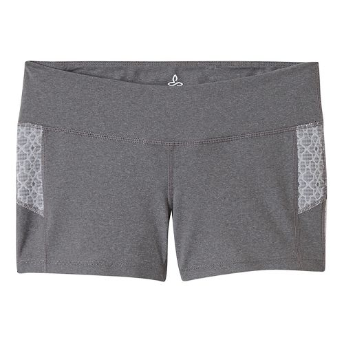 Womens Prana Lennox Compression & Fitted Shorts - Heather Grey XL