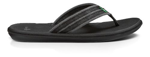 Mens Sanuk Planer Webbing Sandals Shoe - Black 12