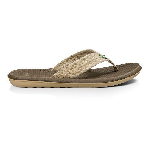 Mens Sanuk Planer Webbing Sandals Shoe - Tan 11