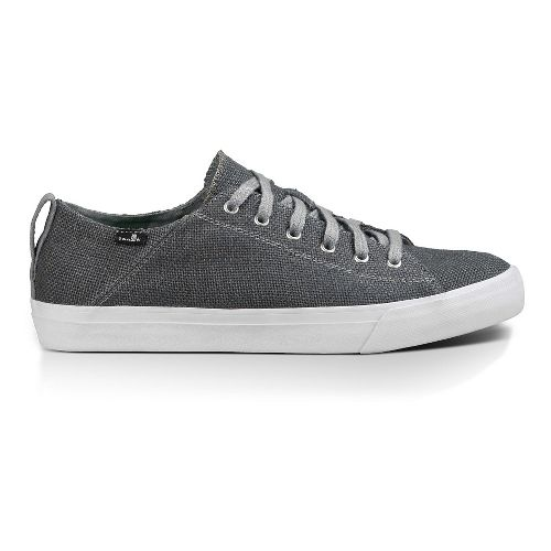 Mens Sanuk Staple Casual Shoe - Charcoal Woven 14
