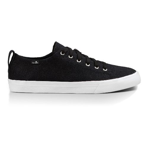 Mens Sanuk Staple Casual Shoe - Black Woven 8