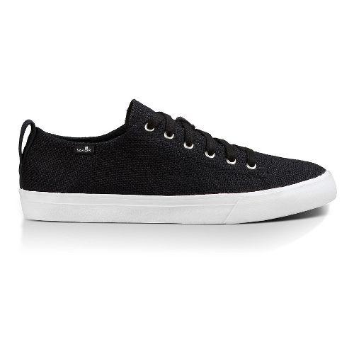 Mens Sanuk Staple Casual Shoe - Black Woven 8.5