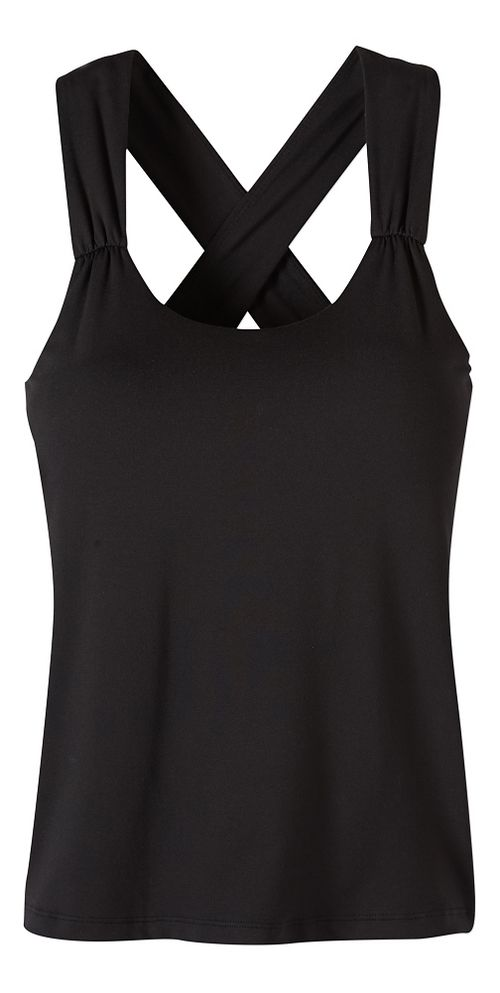 Womens prAna Phoebe Sleeveless & Tank Tops Technical Tops - Black XL
