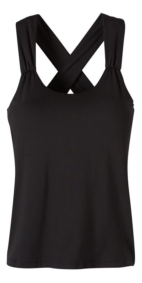Womens prAna Phoebe Sleeveless & Tank Tops Technical Tops - Black XS