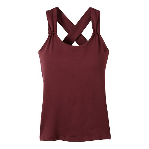 Womens prAna Phoebe Sleeveless & Tank Tops Technical Tops - Purple S