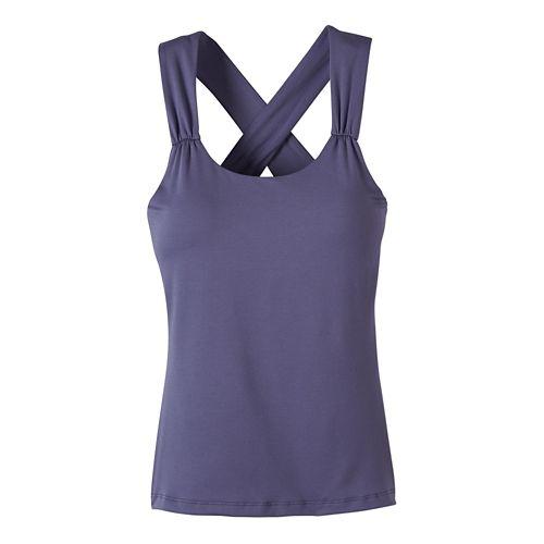 Womens prAna Phoebe Sleeveless & Tank Tops Technical Tops - Purple Fog XS