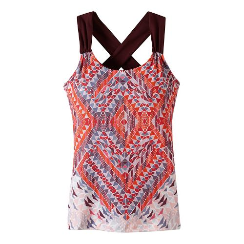 Womens prAna Phoebe Sleeveless & Tank Tops Technical Tops - Red S