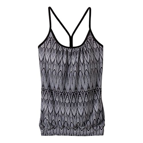 Womens prAna Andie Sleeveless & Tank Tops Technical Tops - Black Feather XS