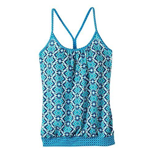 Womens prAna Andie Sleeveless & Tank Tops Technical Tops - Blue Guava XS