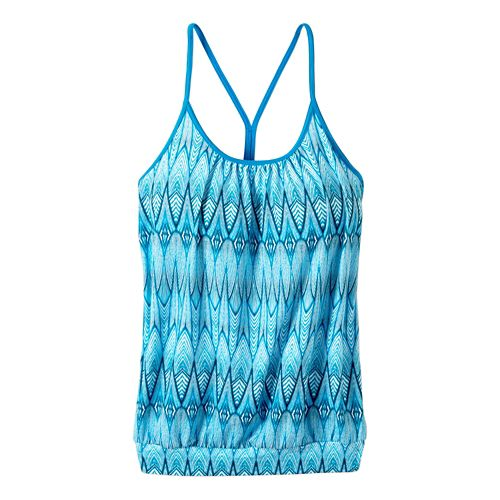 Womens prAna Andie Sleeveless & Tank Tops Technical Tops - Blue Feather XL