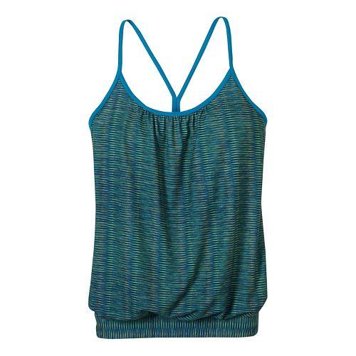 Womens prAna Andie Sleeveless & Tank Tops Technical Tops - Blue/Blue XL