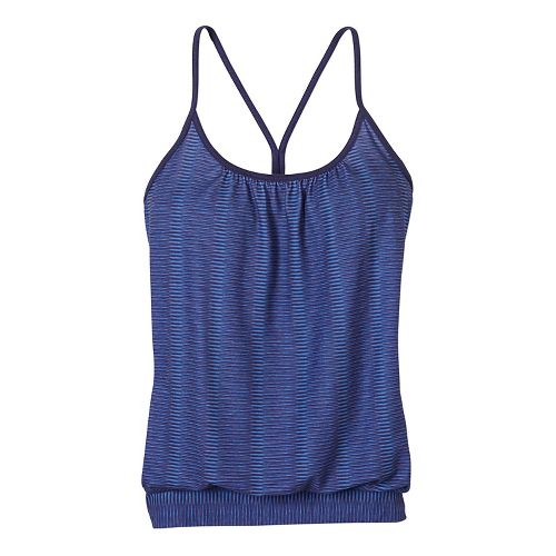 Womens prAna Andie Sleeveless & Tank Tops Technical Tops - Blue S