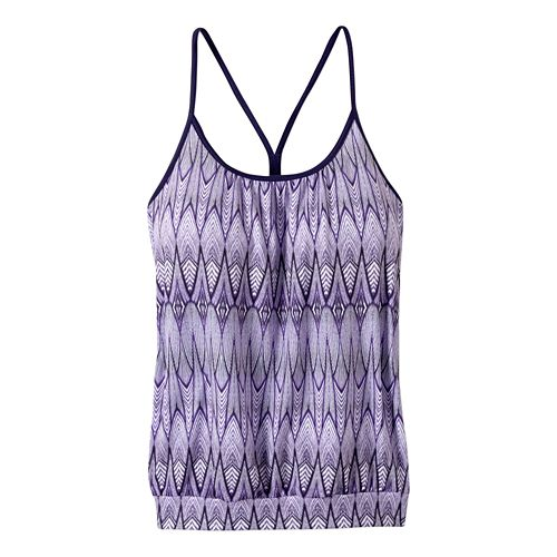 Womens prAna Andie Sleeveless & Tank Tops Technical Tops - Violet Feather XL