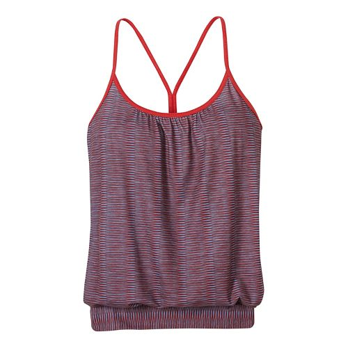 Womens prAna Andie Sleeveless & Tank Tops Technical Tops - Red M