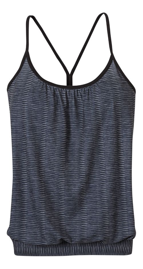 Womens prAna Andie Sleeveless & Tank Tops Technical Tops - Black/Black S