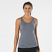 Womens R-Gear Revive Striped Racerback Sleeveless & Tank Technical Tops - Grey Mist Stripe M