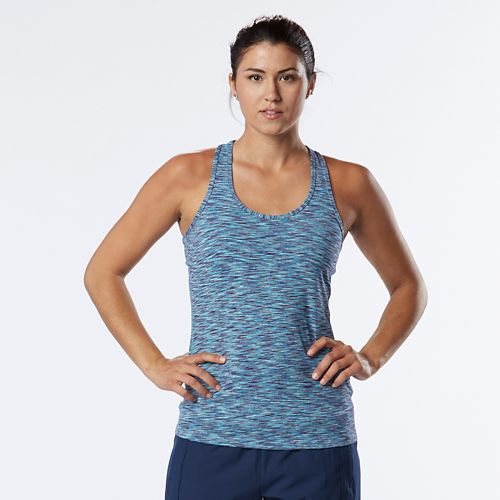 Womens R-Gear Revive Striped Racerback Sleeveless & Tank Technical Tops - Marina/Sea Glass XL