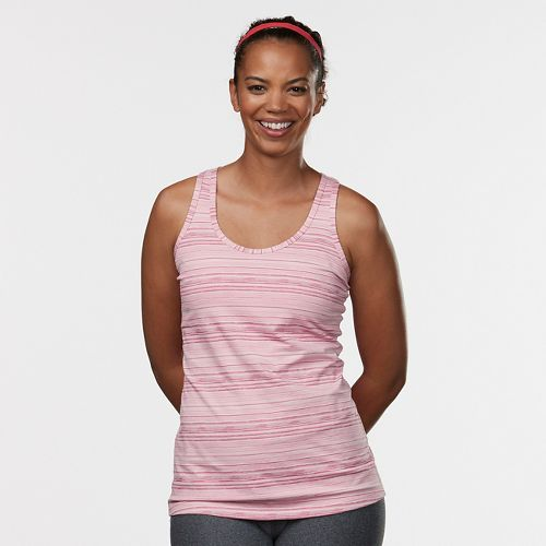 Womens R-Gear Revive Striped Racerback Sleeveless & Tank Technical Tops - Blush Stripe L