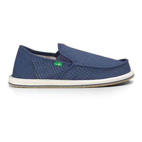 Mens Sanuk Vagabond Perf Casual Shoe - Blue 10