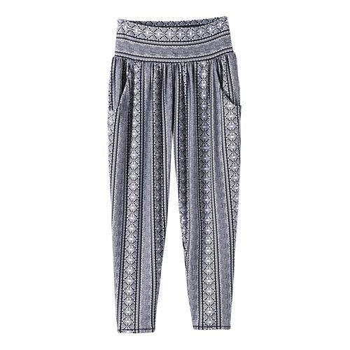 Womens prAna Ryley Crop Pants - Black Lace XL