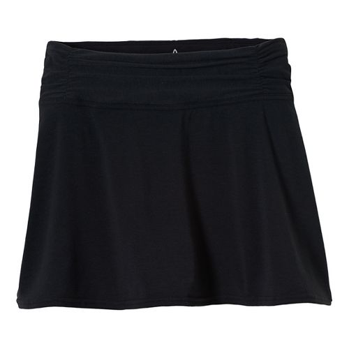 Womens Prana Keely Skorts Shorts - Black S