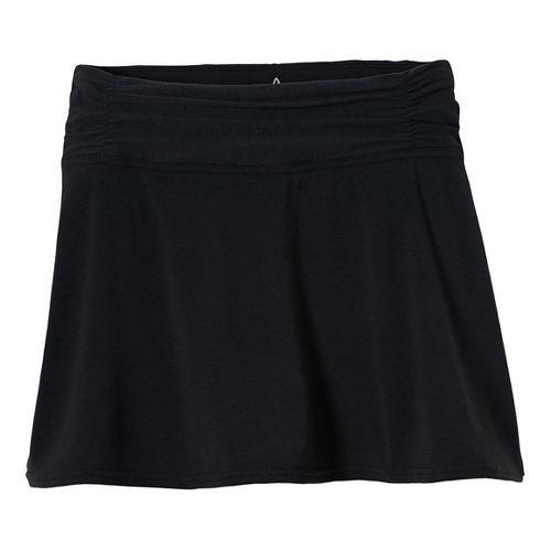 Womens Prana Keely Skorts Shorts - Black XS