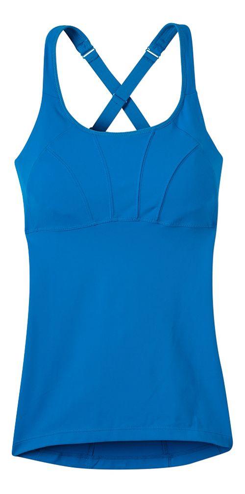 Womens prAna Willa Sleeveless & Tank Tops Technical Tops - Electro Blue XS