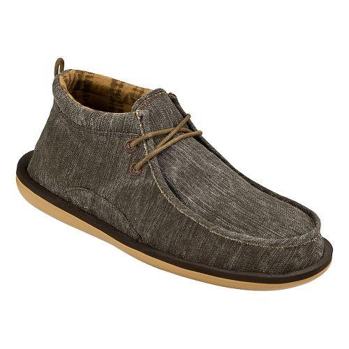Mens Sanuk Walla Casual Shoe - Dark Brown 11
