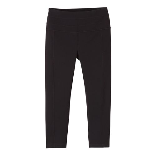 Womens Prana Contour Knicker Capris Pants - Black S