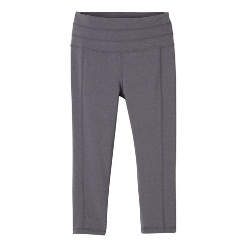 Womens Prana Contour Knicker Capris Pants - Heather Grey L