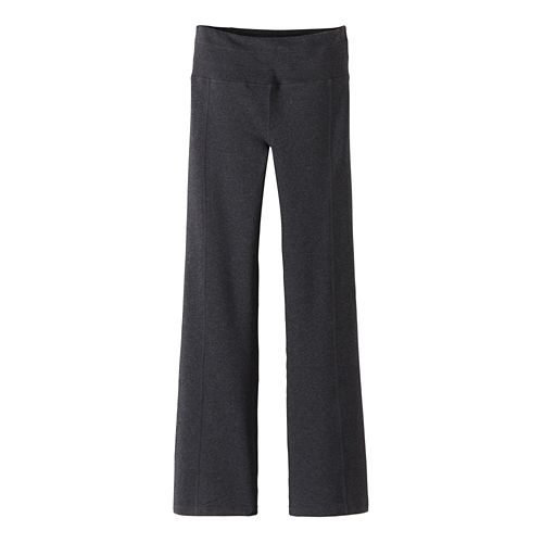 Womens Prana Contour Pants - Charcoal Heather S-T