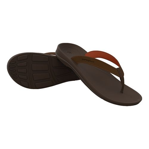 Mens Superfeet Outside Sandals Shoe - Bison 10