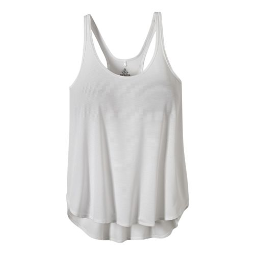 Womens Prana Medley Sleeveless & Tank Tops Technical Tops - White XL