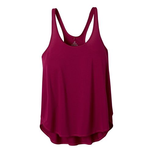 Womens Prana Medley Sleeveless & Tank Tops Technical Tops - Rich Fuchsia XL