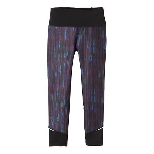Womens Prana Tatum Capri Pants - Black Kaleidoscope L