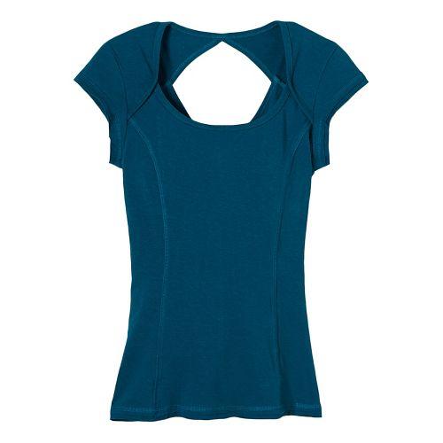 Womens prAna Kamilia Short Sleeve Technical Tops - Green XL