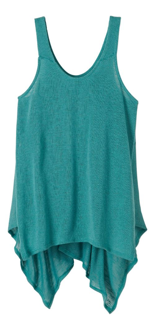 Womens Prana Whisper Sleeveless & Tank Tops Technical Tops - Retro Teal XS