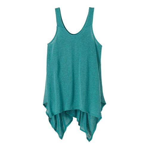 Womens Prana Whisper Sleeveless & Tank Tops Technical Tops - Retro Teal L