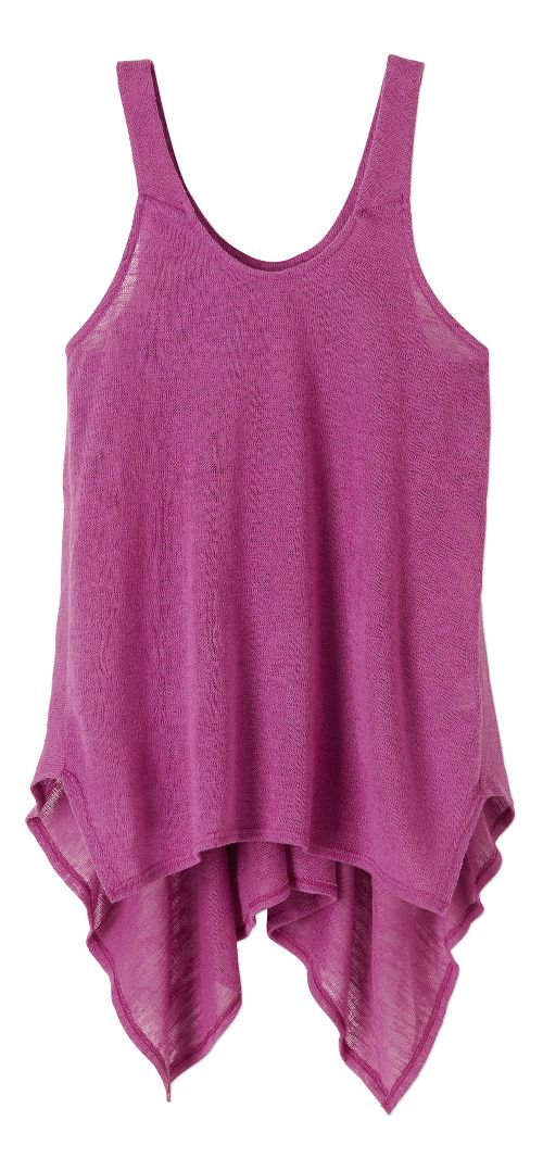 Womens Prana Whisper Sleeveless & Tank Tops Technical Tops - True Orchid L