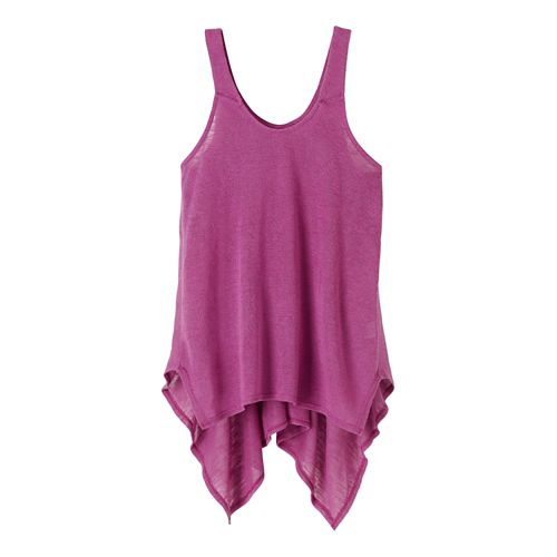 Womens Prana Whisper Sleeveless & Tank Tops Technical Tops - True Orchid M