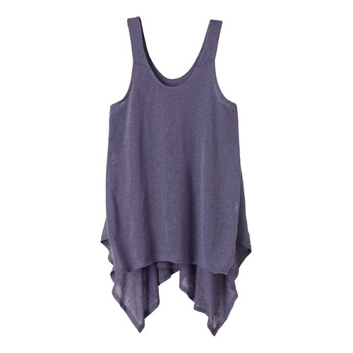 Womens Prana Whisper Sleeveless & Tank Tops Technical Tops - Purple Fog L