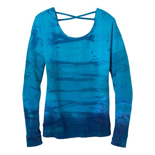 Womens Prana Deelite Pullover Long Sleeve Technical Tops - Cove L