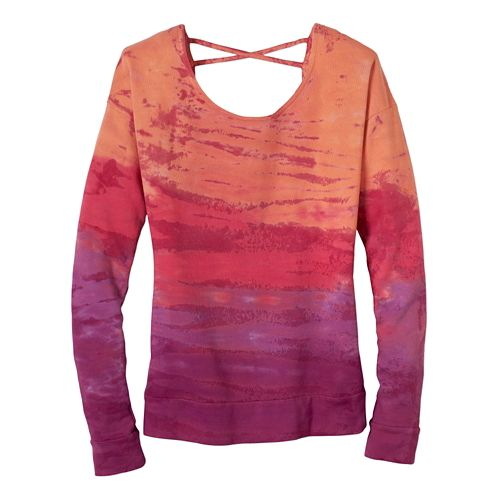 Womens Prana Deelite Pullover Long Sleeve Technical Tops - Light Red Violet S