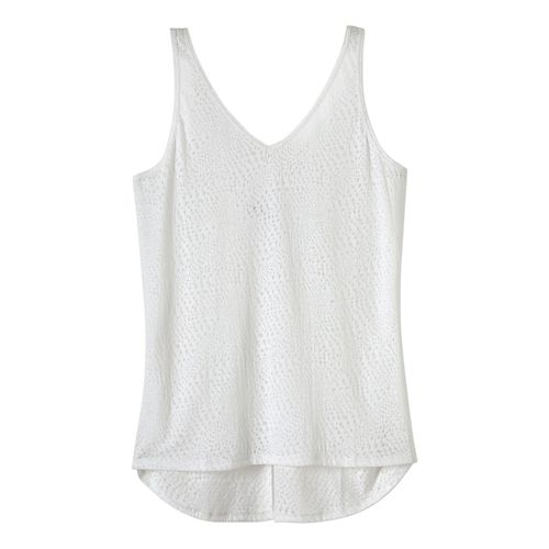 Womens Prana Abbie Sleeveless & Tank Tops Technical Tops - White XL