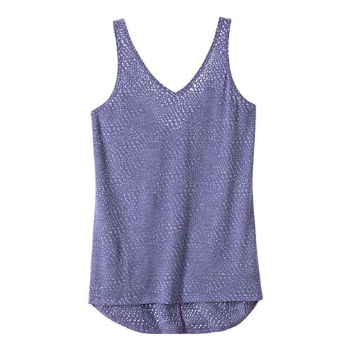 Womens Prana Abbie Sleeveless & Tank Tops Technical Tops - Purple Fog S