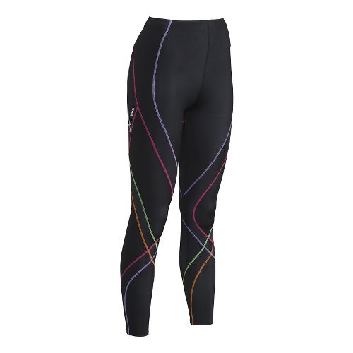 Womens CW-X Endurance Pro Tights & Leggings - Black/Rainbow S