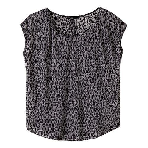 Womens prAna Tandi Short Sleeve Technical Tops - Black XL