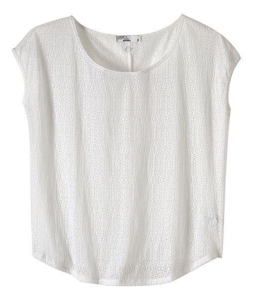 Womens prAna Tandi Short Sleeve Technical Tops - White XL
